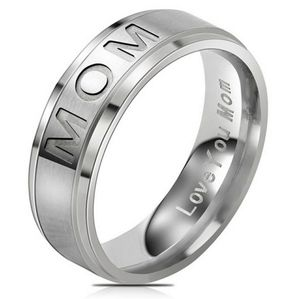 Ring For Mom Engraved Love You Mom